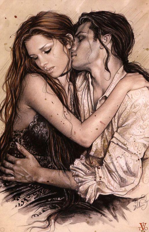 Готическая любовь.Картинки готик арт